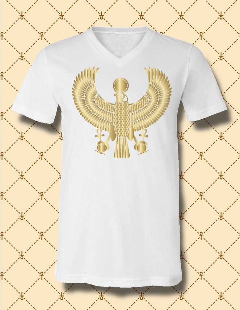 Image of Men's Custom Heru Gold Foil V-Neck