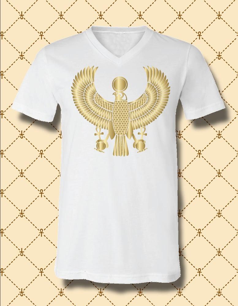 Image of Men's Custom Heru Gold Foil V-Neck