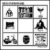 "Image of Deny Everything - Things I Like 7"" CLEAR BLACK Vinyl"