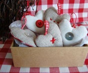 Image of Mini linen hearts