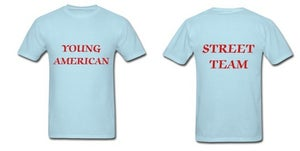 Image of Young American Street Team Shirt- Men