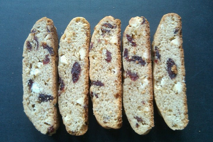Image of Dried Cherry White Chocolate Biscotti