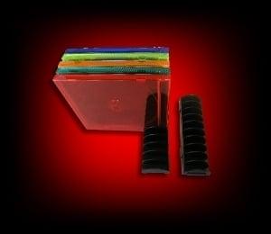 Image of 2 Présentoirs modulables pour 20 boitiers CD
