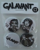 Image of Galavant - Badges 4 Pack