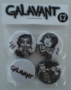 Image of Galavant - Badges 4 Pack