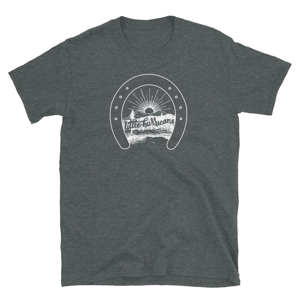"""Image of """"horseshoe sunset"""" T-Shirt"""