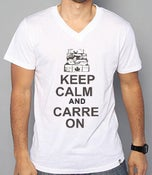 "Image of ""KEEP CALM AND CARREON"" V NECK"