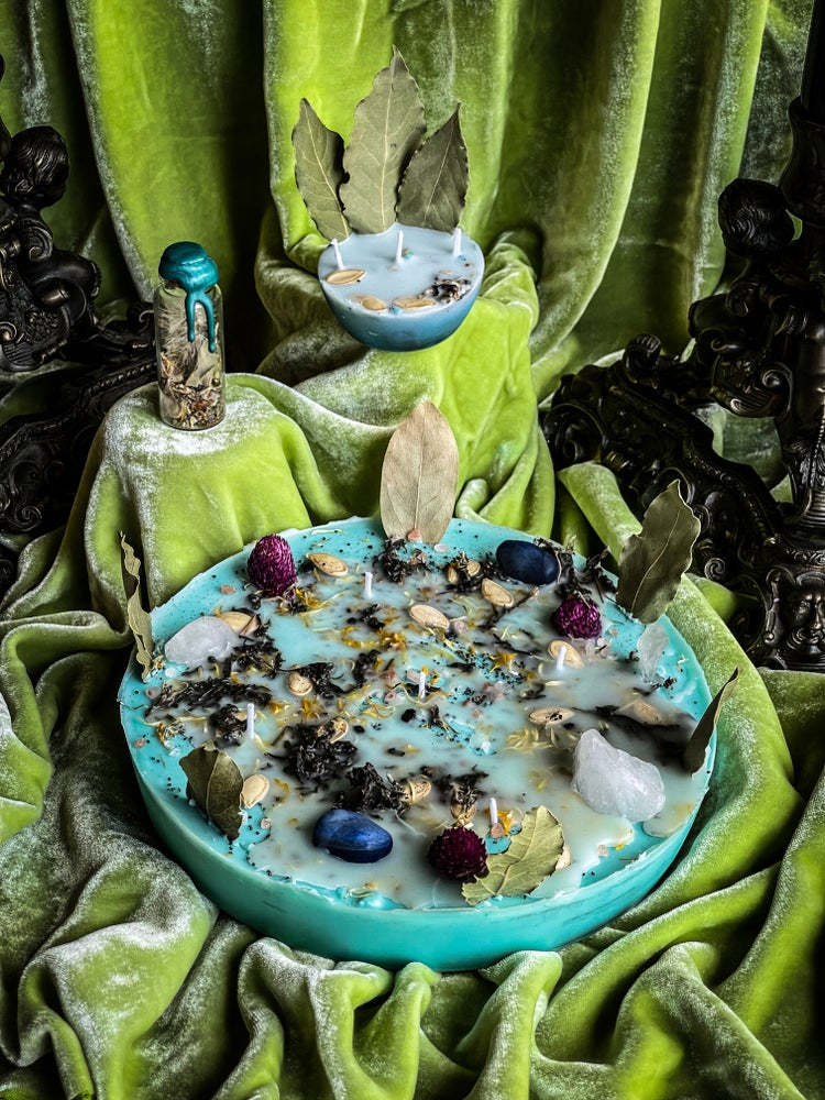Image of Wishing/Manifesting Spell Candles & Spell Jars - Ancient Pathways And Traditions