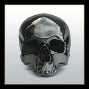 Image of Foxed Chrome Plated Human Skull