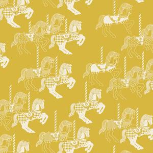 Image of Fayre's Fair Wallpaper - Mustard
