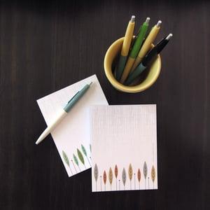 Image of Set of 2 Notepads - Seasonal Trees Motif