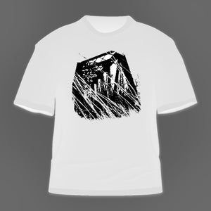 Image of wellspring - the divide 'trestle' t-shirt [white]