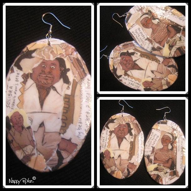 Image of Black ComicView Earrings