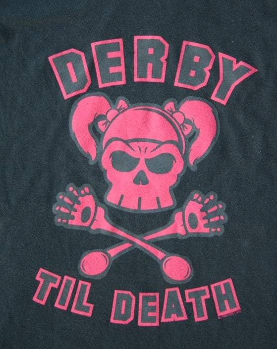 Image of Derby Til Death - Ladies & Guys Black T-Shirt