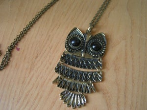 Image of owl necklace