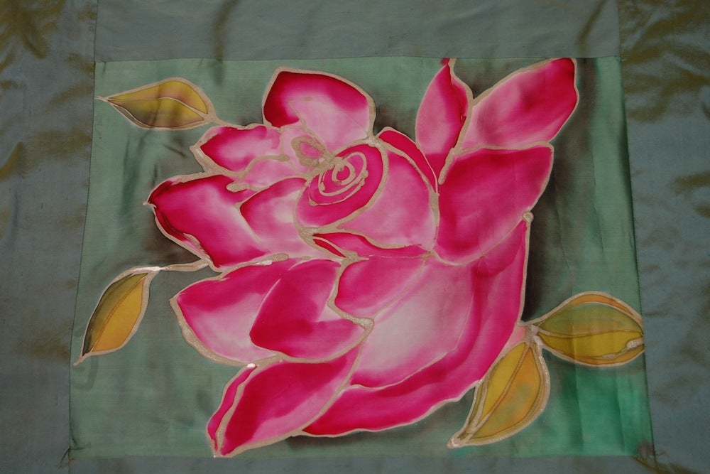 Image of Beloved Meditation Cushion - Handpainted Silk