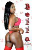 Image of Bella Poster - Red Lingerie (back)