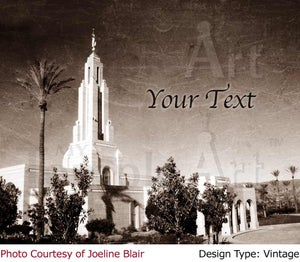 Image of Redlands LDS Mormon Temple Art 002-Personalized Temple Art