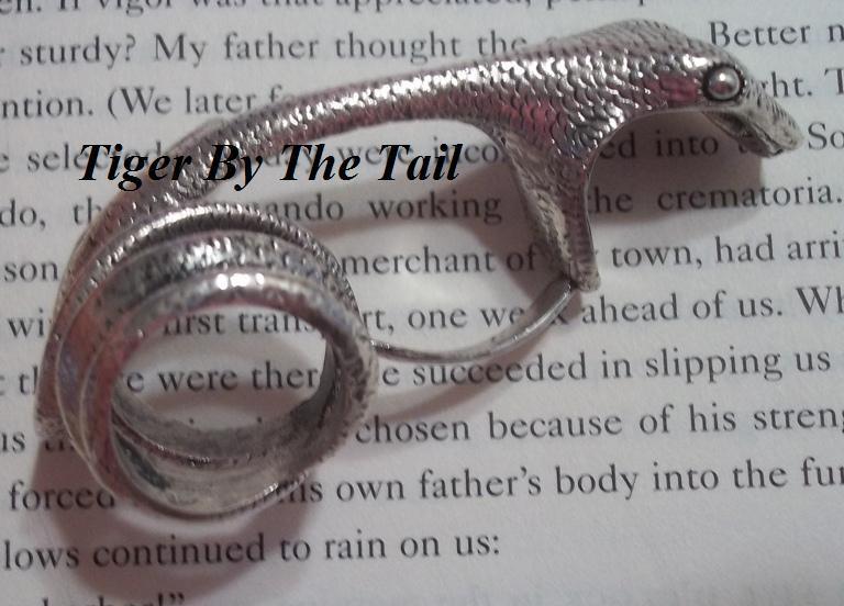 Tigerbythetail  Full Finger Snake Bite Ring-9961