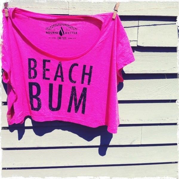 Image of Beach Bum Crop Top / Fuchsia