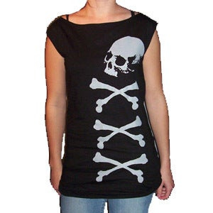 Image of Skull and Crossbones T-Dress