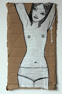 Image of cardboard lady 01