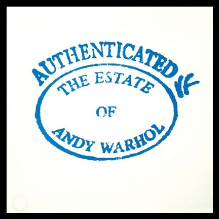 Image of Warhol Estate Stamp