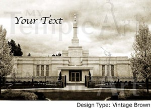Image of Spokane LDS Mormon Temple Art 001-Personalized LDS Temple Art