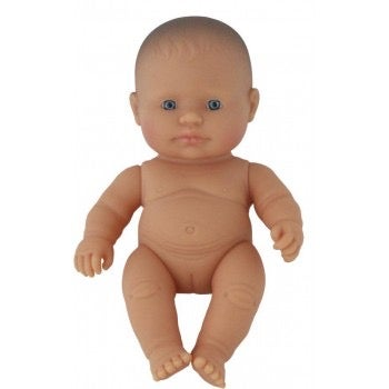 Image of Miniland Doll - Baby Caucasian Girl, 21cm (undressed) Copy
