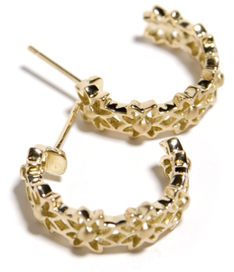 Image of Gold Hoop Earring