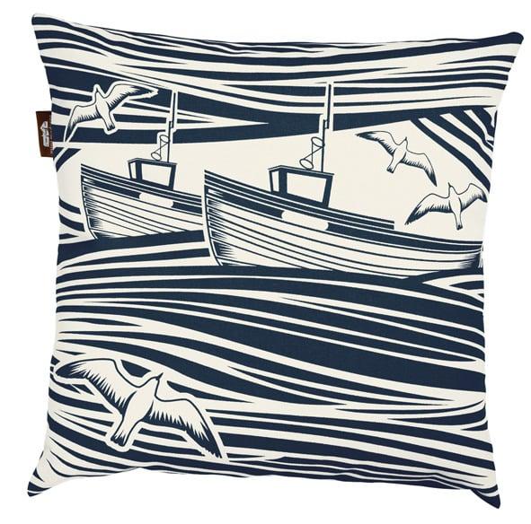 Image of Whitby Cushion - Indigo