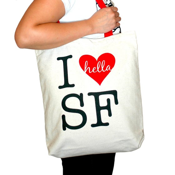 Image of I Hella Heart SF Totebag