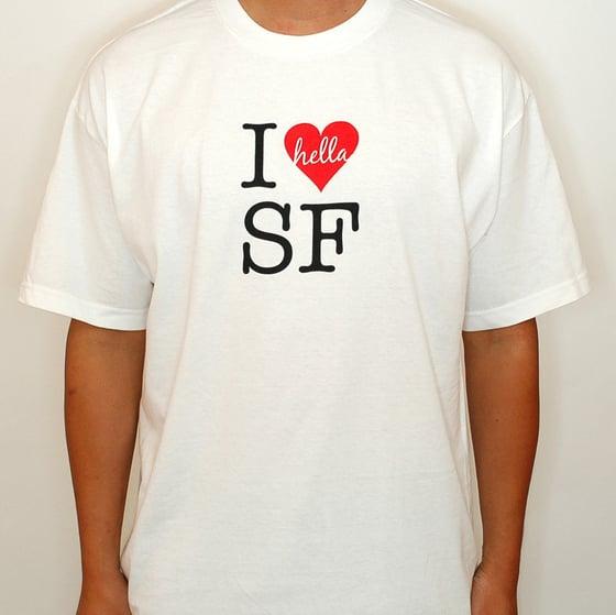 Image of I Hella Heart SF (white)