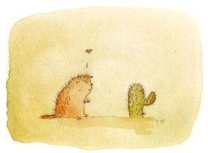 Image of Cactus Loves Porcupine greeting card