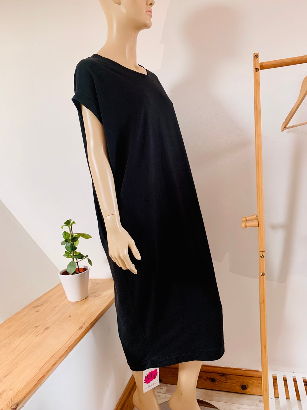 Milano dress with pockets, long length - plain colours