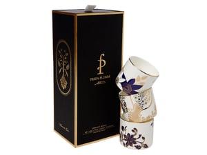 Image of Tea Light Vessels - Set of 3 (Indigo Blues Collection)