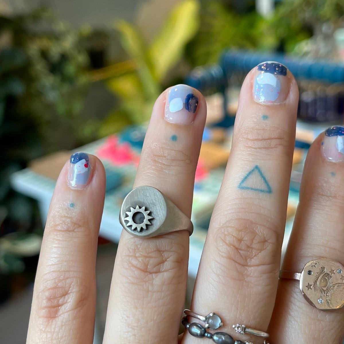 Image of sun signet ring