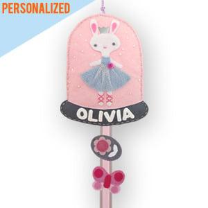 Image of bunny ballet hair clip & ponytail holder