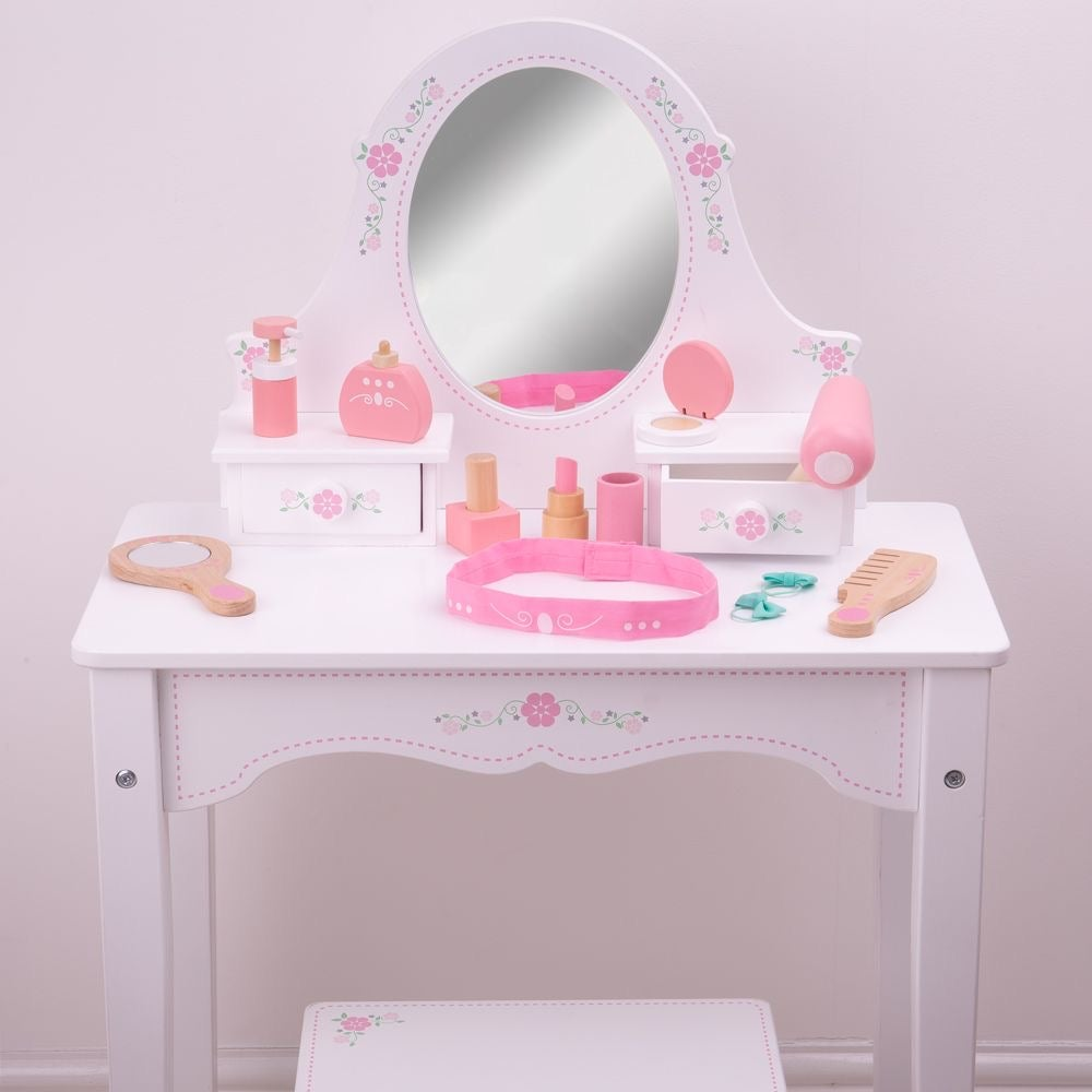 Image of White Rose Vanity Table