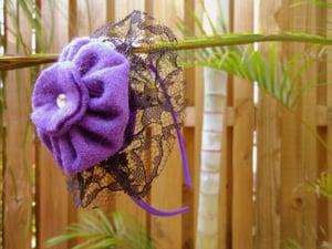 Image of Purple and Black Hairband