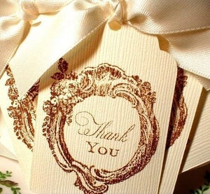 Image of Chocolate Thank You Tags/Embellishments - 12