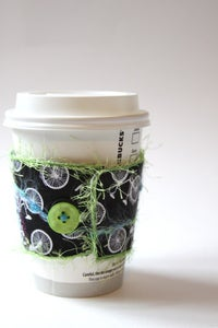 Image of Cup Cozy - Black and white Bicycles