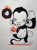 Image of Monkey loves Oranges - Gocco Print