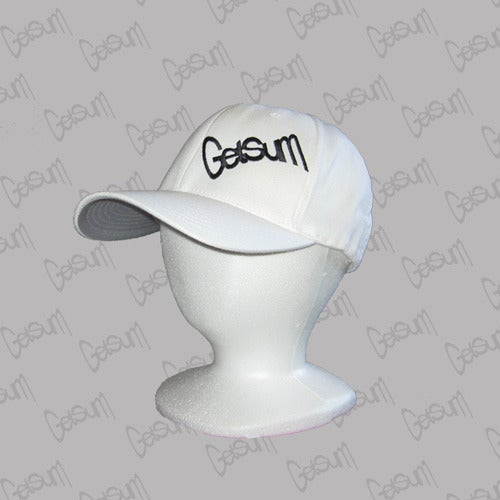 Image of White FlexFit Hat/Black Logo