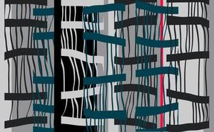 Image of Bamboo 2 (Digital print on cotton twill)