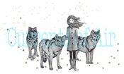 Image of Girl & Wolves: Art for your Blog / Banner- get it within 24hrs