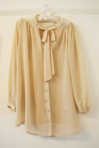 Image of Cream/Nude Sheer Blouse