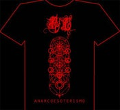 Image of Bathory Legion's Anarcoesoterismo Tshirt Red Print