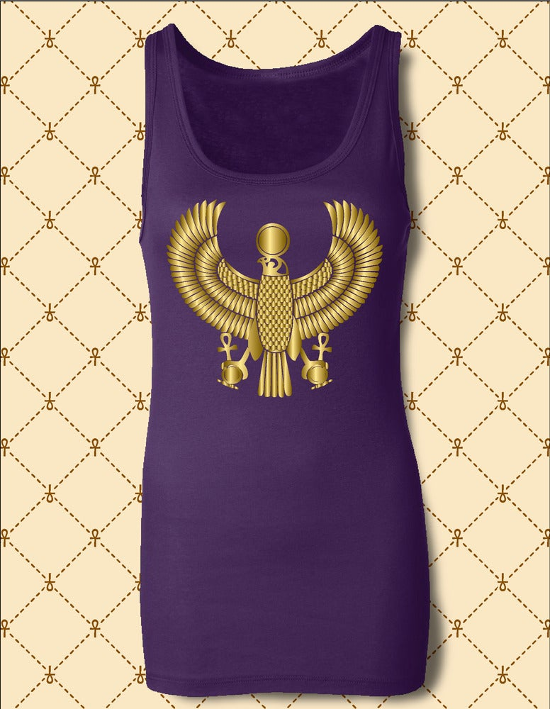 Image of NSC Women's Heru Gold Foil Tank Top