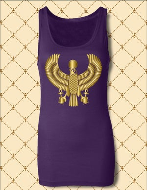 Image of Women's Custom Heru Gold Foil Tank Top